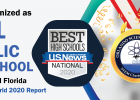 Orlando Science Middle/High has again ranked #1 as the Best High School in the Orlando