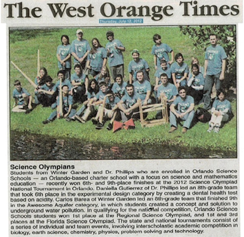 OSS in the West Orange Times